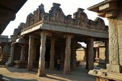 哈扎拉Rama寺庙,亨比,卡纳塔克邦,印度 库存照片