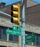哈林路牌,纽约 库存照片