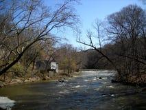 哈格利的Museaum的Brandywine河 库存照片