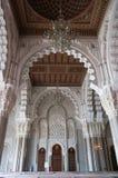 哈桑二世清真寺内部穹顶在卡萨布兰卡,摩洛哥。 库存照片