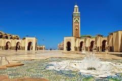 哈桑二世清真寺卡萨布兰卡 免版税图库摄影