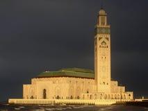 哈桑二世清真寺在卡萨布兰卡 图库摄影