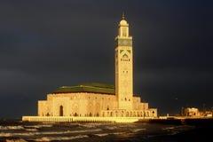 哈桑二世清真寺在卡萨布兰卡 免版税图库摄影
