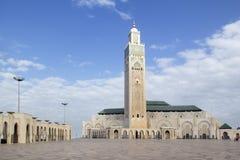 哈桑二世清真寺在摩洛哥 库存图片
