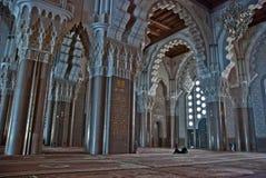 哈桑二世清真寺的内部,在卡萨布兰卡 库存图片