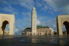 哈桑清真寺II在卡萨布兰卡 免版税库存照片