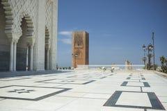 哈桑陵墓和塔在拉巴特 免版税库存图片