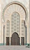 哈桑II清真寺卡萨布兰卡摩洛哥的门 免版税库存照片