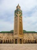 哈桑II清真寺在卡萨布兰卡 库存照片