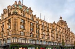 哈洛德百货公司百货店在伦敦 库存图片