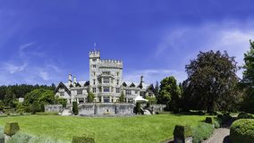哈特利城堡全国古迹温哥华岛维多利亚不列颠哥伦比亚省,加拿大 免版税库存照片