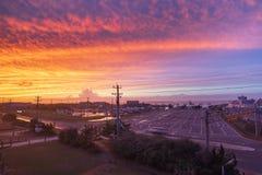 哈特勒斯角Ocracoke轮渡码头北卡罗来纳 库存图片