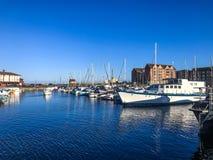 哈特尔浦小游艇船坞港口 免版税图库摄影