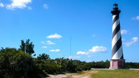 哈特拉斯角灯塔和周围的风景 免版税图库摄影