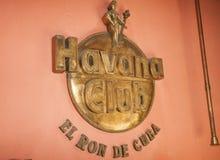 哈瓦那俱乐部标志 免版税库存照片