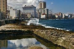 哈瓦那全景码头 免版税库存照片