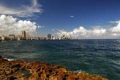 哈瓦那全景码头 库存图片