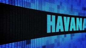 哈瓦那发短信给移动LED墙板显示标志板 库存例证