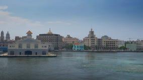 哈瓦那古巴地平线宽建立的射击从港口的 股票录像