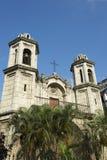 哈瓦那古巴教会建筑学塔 库存照片