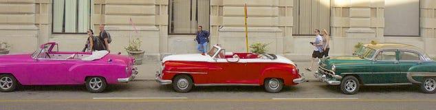 哈瓦那和汽车,古巴 免版税库存照片