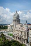 哈瓦那国会大厦和巨大剧院在La Habana Vieja 免版税库存照片