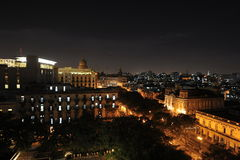 哈瓦那在晚上 免版税库存照片