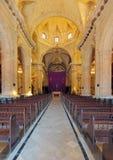 哈瓦那大教堂内部  图库摄影