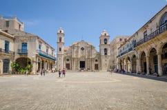 哈瓦那大教堂广场 图库摄影