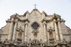 哈瓦那大教堂 免版税库存照片