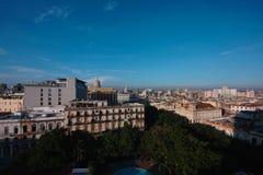 哈瓦那市在古巴 免版税库存图片