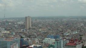哈瓦那市Vedado区全景,鸟瞰图 影视素材