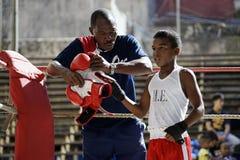 哈瓦那拳击队 库存照片