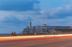 哈瓦那日落 古巴 免版税库存图片