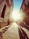 哈瓦那旧城古巴街道  免版税库存图片