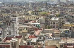 哈瓦那旧城屋顶视图  库存图片