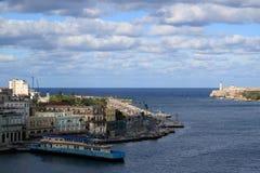 哈瓦那旧城视图 图库摄影