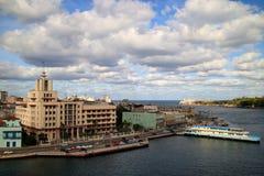 哈瓦那旧城视图 免版税图库摄影