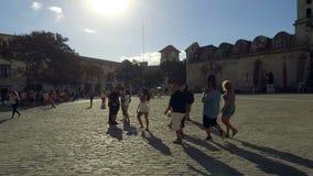 哈瓦那旧城- La Habana Vieja -城市中心-街市-哈瓦那,古巴 股票录像