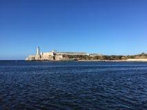 哈瓦那海湾,在灯塔的看法 图库摄影