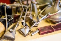 哈瓦那理发师工具 图库摄影