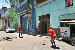 哈瓦那的居民街道的 免版税图库摄影