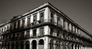 哈瓦那的老大厦中心 免版税库存照片