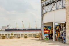 哈瓦那的船坞 库存图片