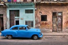 哈瓦那老汽车 免版税库存图片