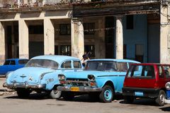 哈瓦那老汽车 免版税库存照片