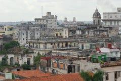哈瓦那老顶视图 免版税库存照片