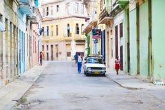 哈瓦那街道  古巴 免版税库存图片
