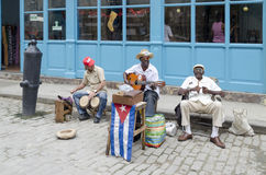 哈瓦那音乐家街道 免版税库存图片