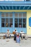 哈瓦那音乐家街道 库存照片